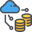 cloud, data, database, server, storage icon