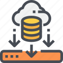 cloud, data, database, download, file, storage icon