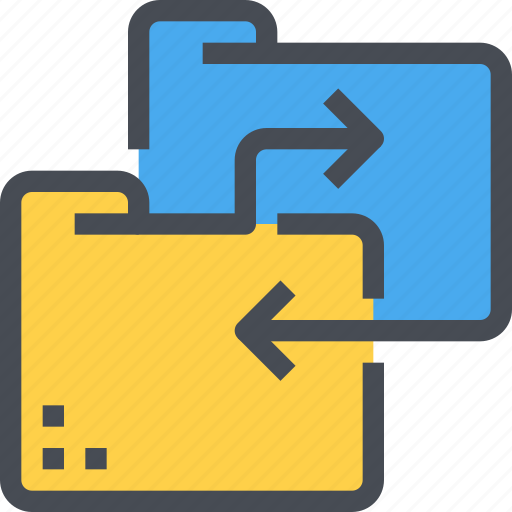 data, document, exchange, file, folder, sharing, tansfer icon
