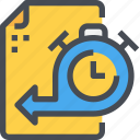 clock, document, management, time, timeline, timer icon