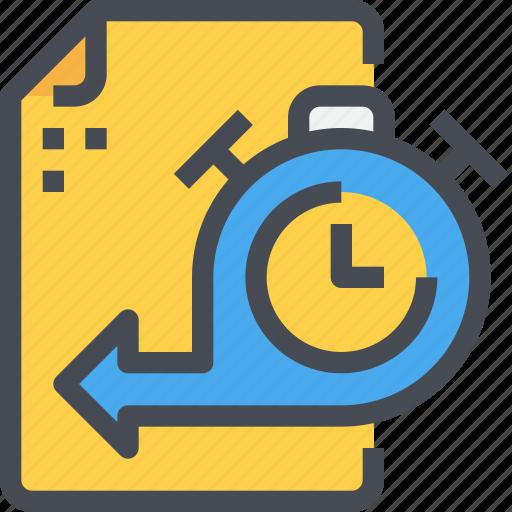 clock, document, management, time, timeline, timer icon