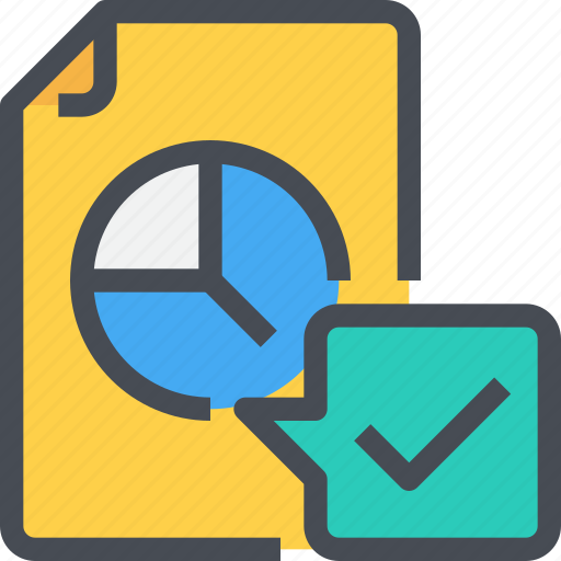 check, document, file, graph, marketing, report icon