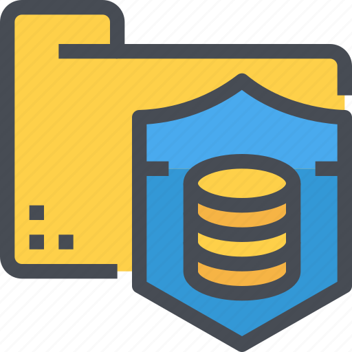 data, database, protection, secure, security, shield, storage icon