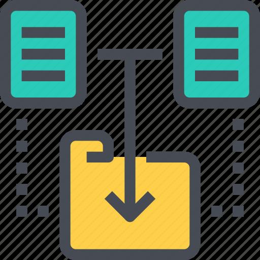 analysis, analytics, chart, data, folder icon