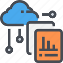 chart, cloud, database, report, server, storage icon