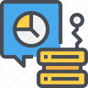 analytics, business, chart, data, server, statistics icon