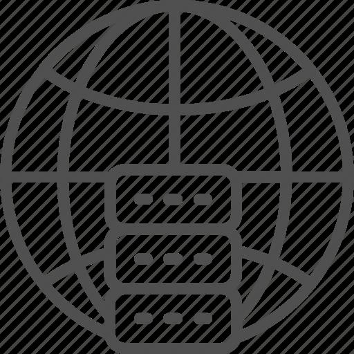 analytics, big, data, global, hosting, server, technology icon