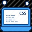 data, analysis, css, file, laptop icon