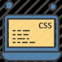analysis, file, css, data, laptop icon