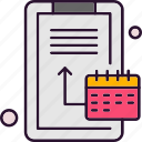analysis, calendar, data, date