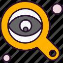 analysis, data, eye, find, search