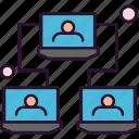analysis, data, laptop, link