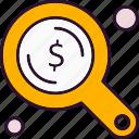 analysis, data, dollar, find, search
