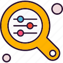 analysis, data, find, option, search