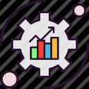 analysis, bar, chart, data, setting