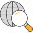 analysis, business, data, globe, statistic icon