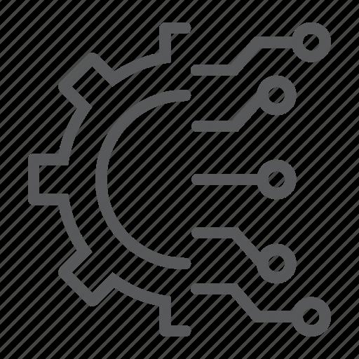 analytic, business, cog, cogwheel, data, gear, intelligence icon
