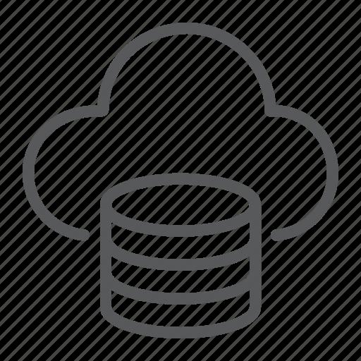 cloud, computing, data, database, network, server, storage icon