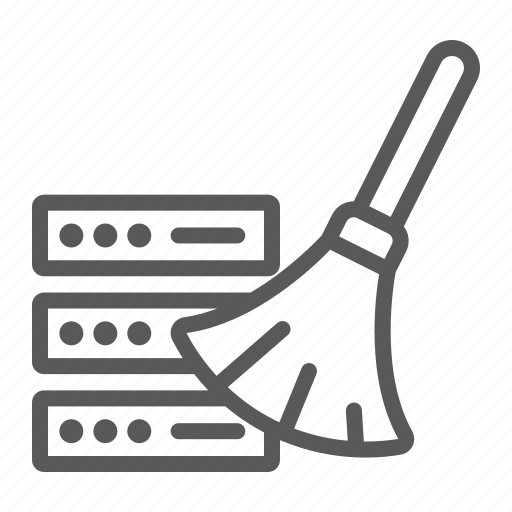 analytic, clean, data, database, remove, server, storage icon