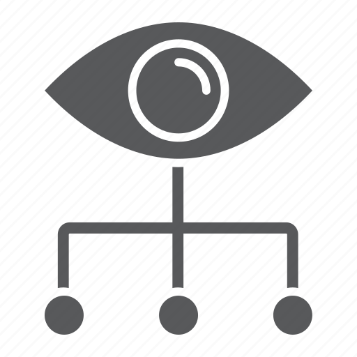 analytic, data, eye, graph, managment, visualization icon