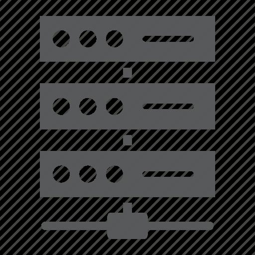 analytic, data, database, network, server, storage, system icon