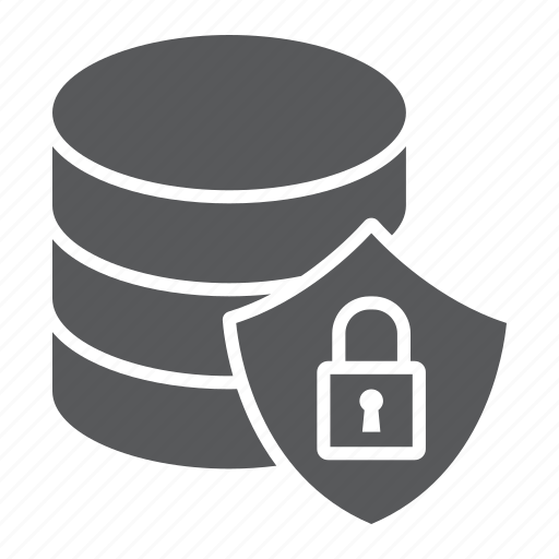 backup, data, database, lock, protection, security, shield icon