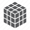 construction, cube, education, olap, puzzle, rubik, square icon