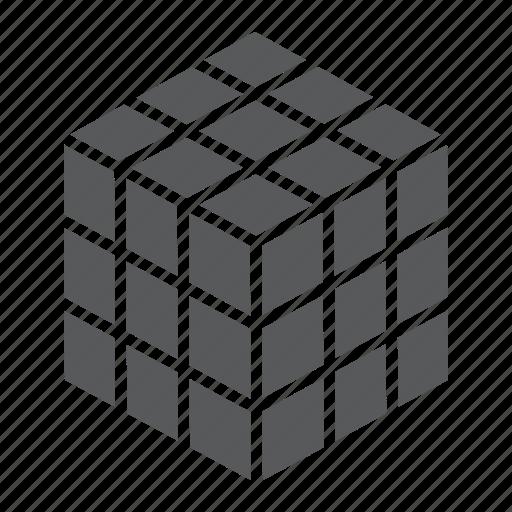 construction, cube, education, olap, puzzle, rubik, square icon
