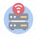 database router, internet router, server modem, server router, wireless router icon