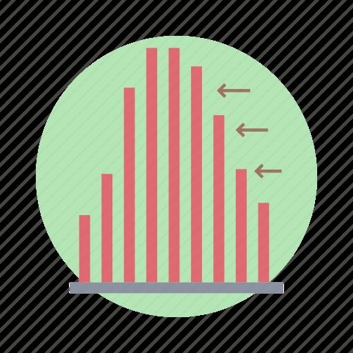 bar chart, bar graph, data analytics, histogram, infographic, statistics icon