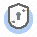 encryption, locked, locked shield, protection, secure, security shield icon