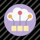 cloud computing, cloud connection, cloud hosting, cloud storage, cloud technology icon