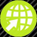 arrow, buy, download, global, up, world