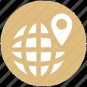 globe, map, mountains, trip, world, world map icon