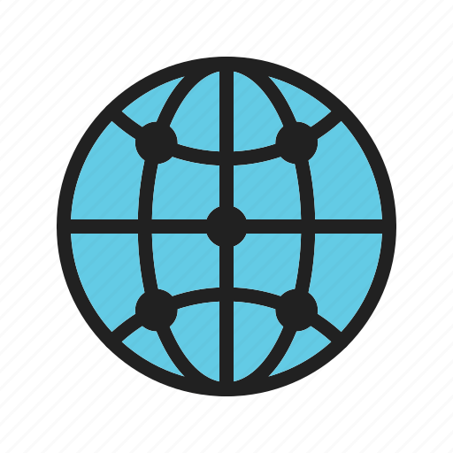 cloud, global, infrastructure, network, server, system, technology icon