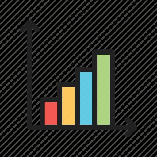 Statistics, financial, business, graph, analysis, analytics, data icon