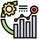 advanced, analytics, chart, data, results icon