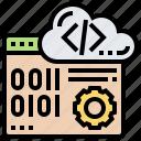 algorithm, binary, coding, programming, website icon