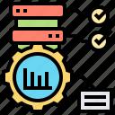 data, optimization, processing, resource, storage icon