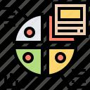data, diagram, presentation, results, visualization icon