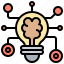 brain, deep, intelligence, learning, network icon