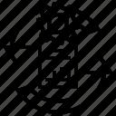 analysis, arrows, circle, continuous, data icon