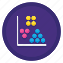 analysis, chart, cluster, cluster analysis, diagram icon