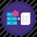 data, database, log, processing, server