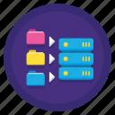 data, database, file sharing, folder, folders, server, warehouse