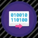 binary, binary code, code, protocol icon