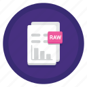 data, document, raw, raw data icon