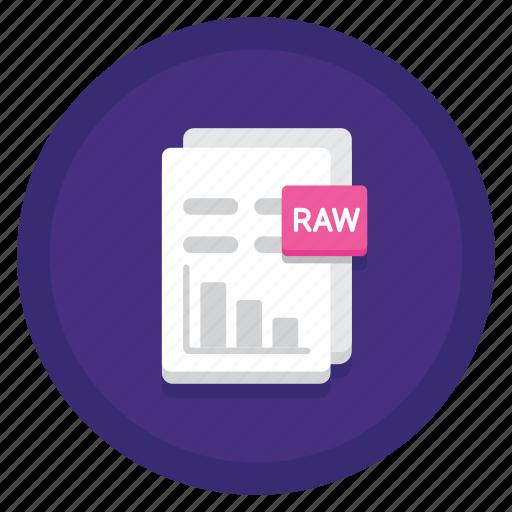 data, document, raw, raw data icon