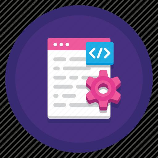 code, coding, css, html, language, log, programming icon