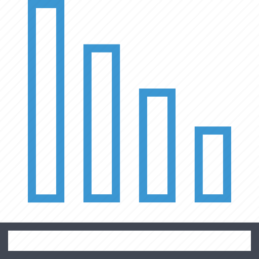 bars, data, graph, low icon